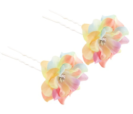 Accessory - H032 - Fabric Flower Hairpins