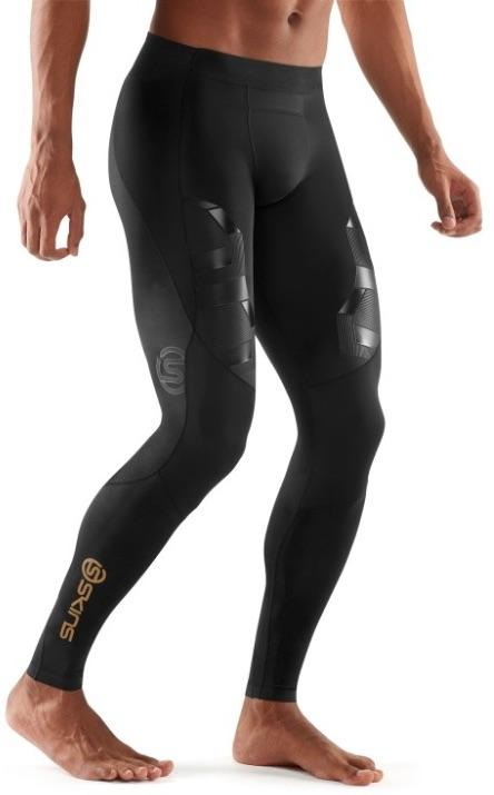 Activewear - A400 Men s Oblique Long Compression Tights b43549baf70b
