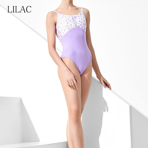 Grishko DA1957MP Lilac Flowers Leotard