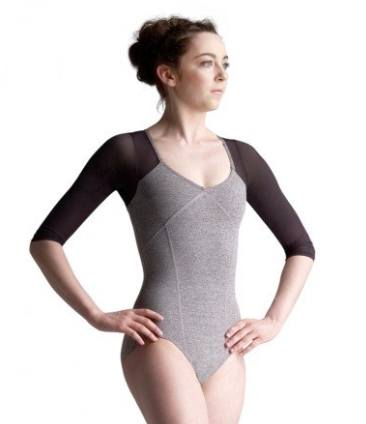 10670W - Shrug Leotard with Strappy V-Back