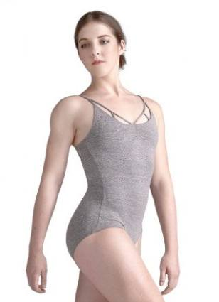 Leotard - 10678W - Camisole Leotard With Plunging Front Cut Out