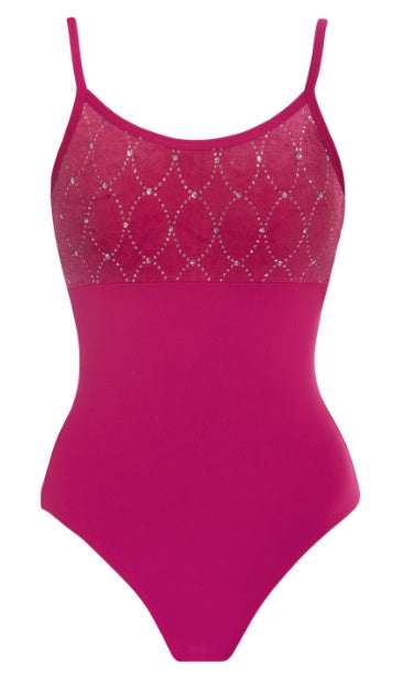 Leotard - AL49 - Diamond Detail Camisole Leotard