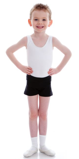 Dancer wearing Energetiks CL01 Boys Scoop Neck Leotard