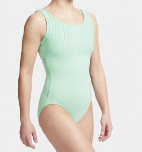 Leotard - MC823W - Tank Leotard With Pin Tucked Yoke