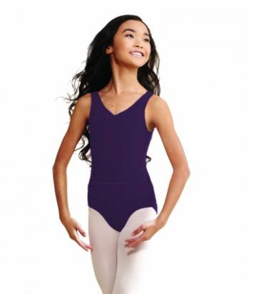 Leotard - TC0045C - Child's V-Neck Pinch Front Leotard With Belt