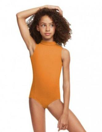 Leotard - TC0048C - Girl's Polo Neck Leotard