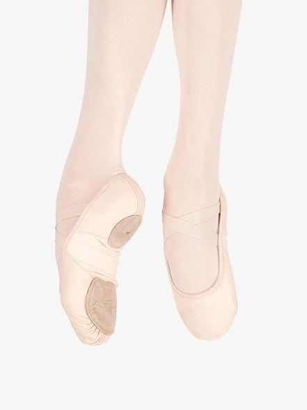 Shoe - 02038W - Leather Hanami Ballet Shoe
