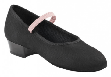 04571 - Academy Canvas Character Shoe Low Heel