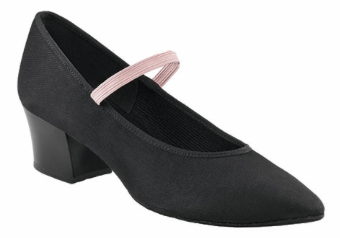 04561 - Academy Canvas Character Shoe - Cuban Heel