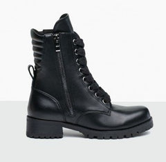 Shoe - 610W - Swag Flat Sole Combat Boot