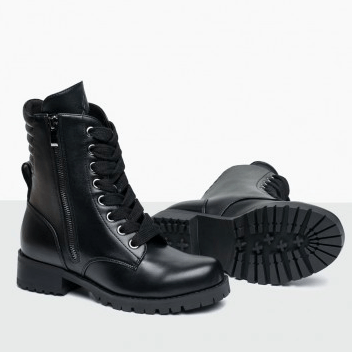 610W - Swag Flat Sole Combat Boot