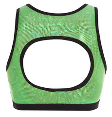 Top - GAC114 - 'Shattered Glass' Evelyn Crop Top