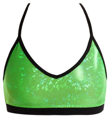 Top - GAC94 - 'Shattered Glass' Detailed Crop Top