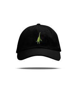 Rearing Brachiosaurus Dad Hat (Black)
