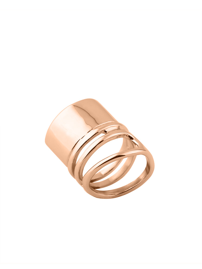 Coil Melt Ring - Rose Gold