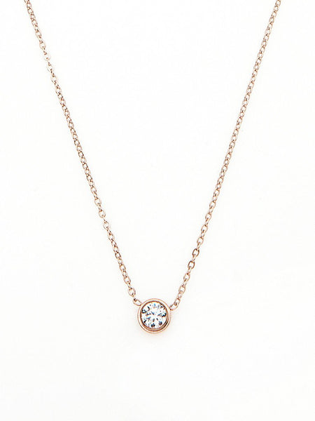 Crystal Bezel Necklace