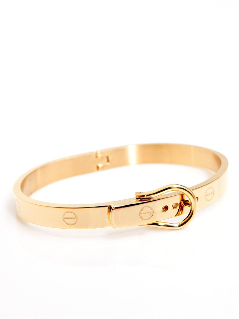 Buckle Bangle - Gold