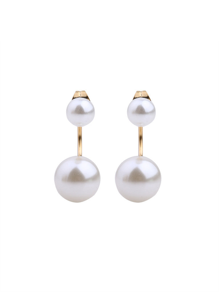 Audrey Pearl-Swing Earrings - Gold