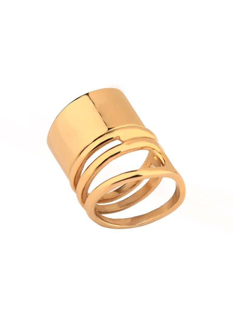 Coil Melt Ring - Gold