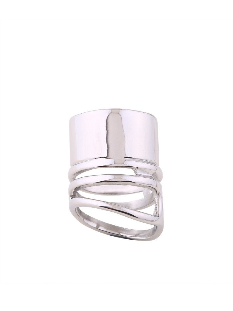 Coil Melt Ring - Silver