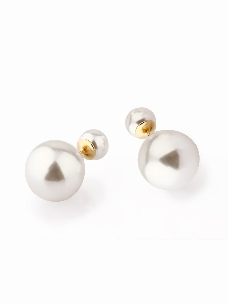 Audrey Pearl-Stud Earrings - Gold
