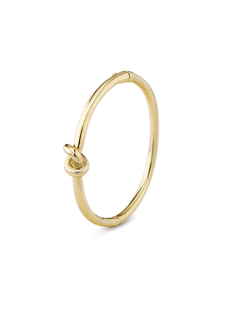 Metallic Knot Bangle - Gold