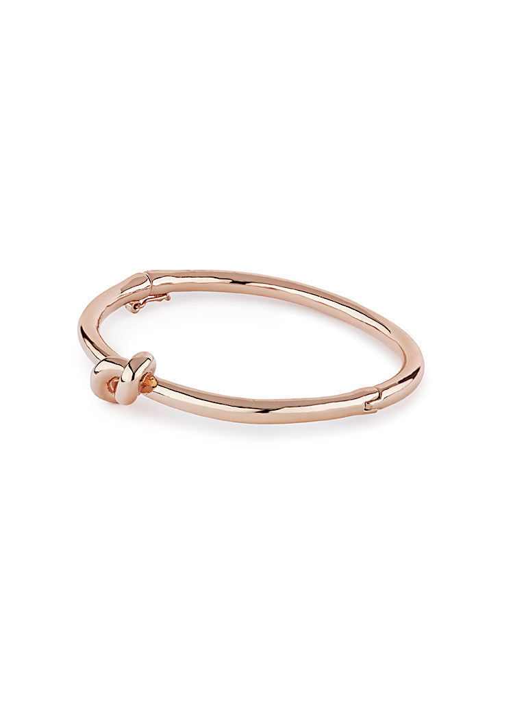 Metallic Knot Bangle - Rose Gold