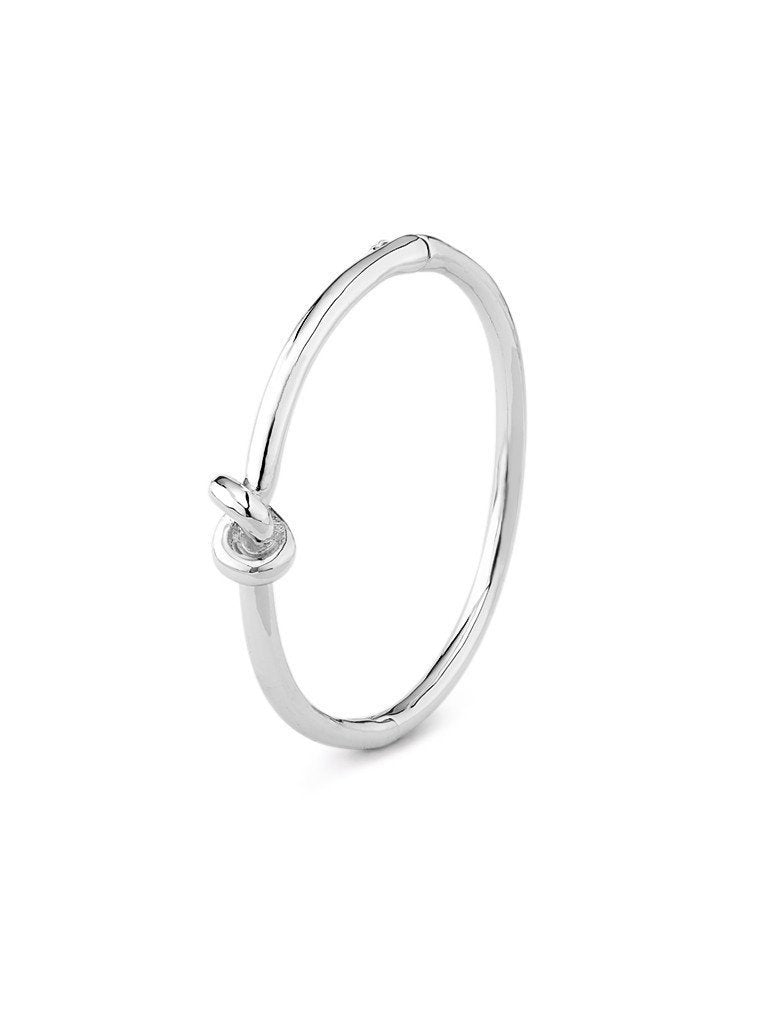 Metallic Knot Bangle - Silver