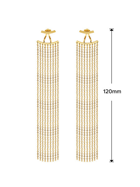 Fringe Drop Earrings - Gold