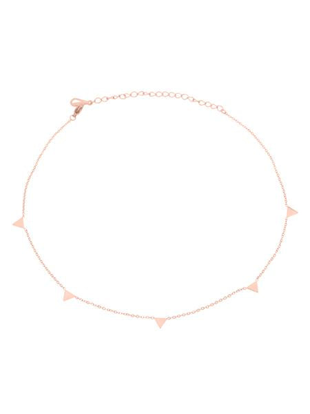 Dainty Triangle Choker - Rose Gold