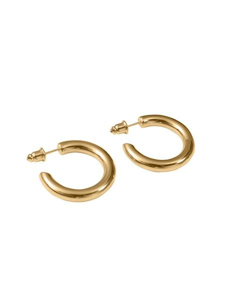 Bold Hoop Earrings - Gold