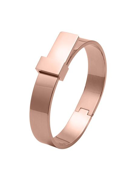 Luxe Ribbon Bangle - Rose Gold