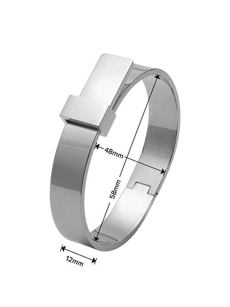 Luxe Ribbon Bangle - Silver