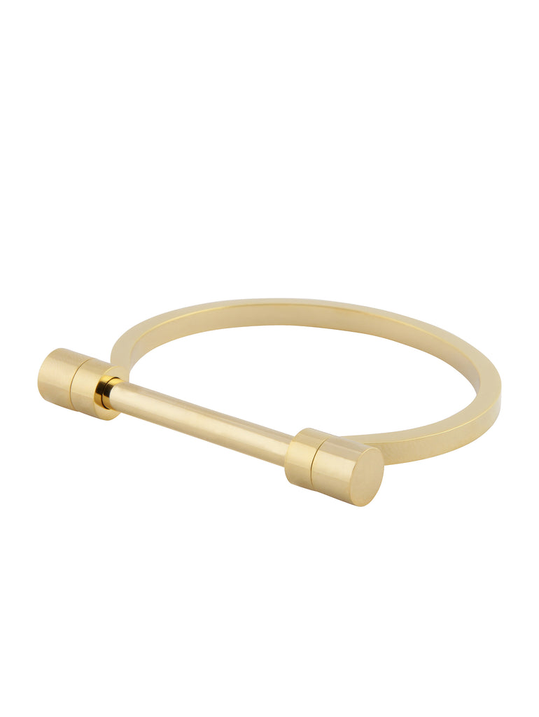 Modern Bar Bangle - Gold