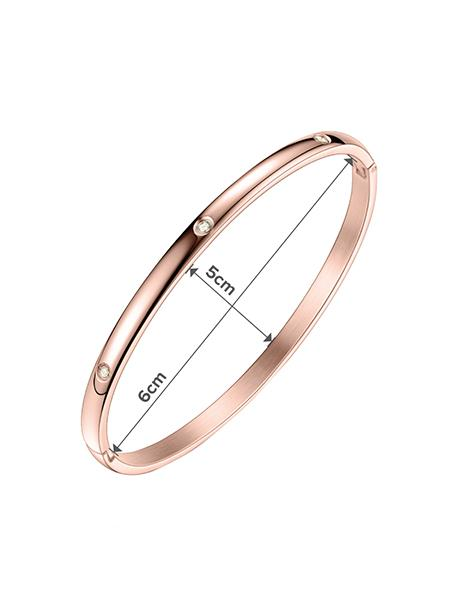Modern Crystal Bangle - Rose Gold