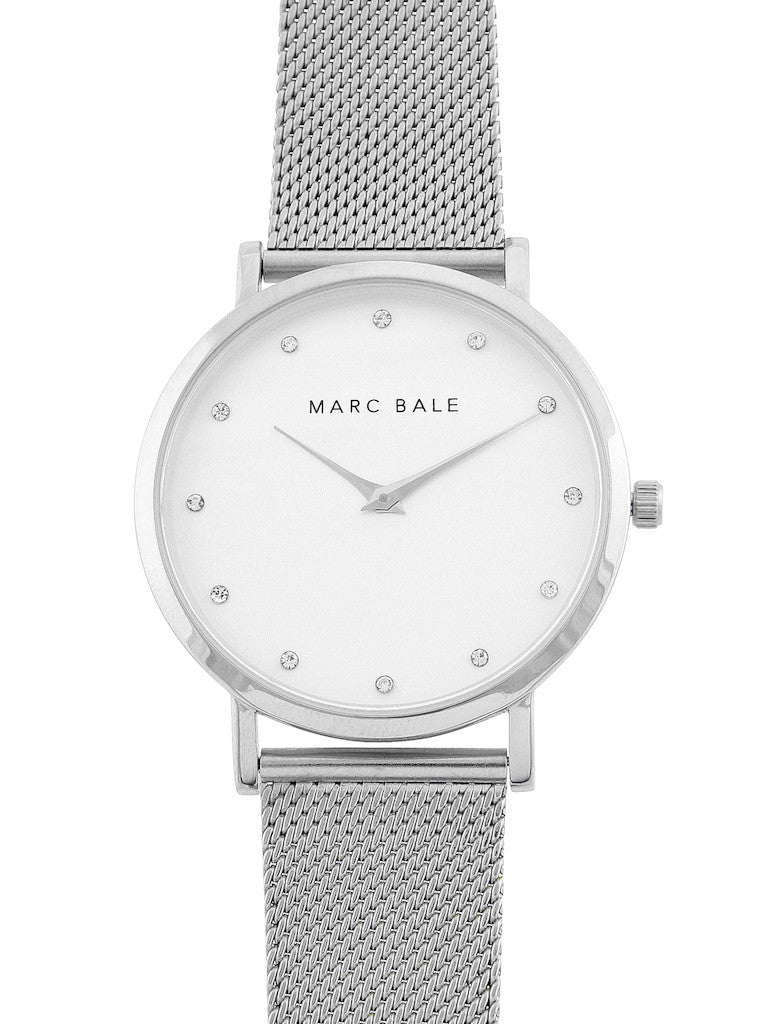 bale products marc watches mesh crystal silver