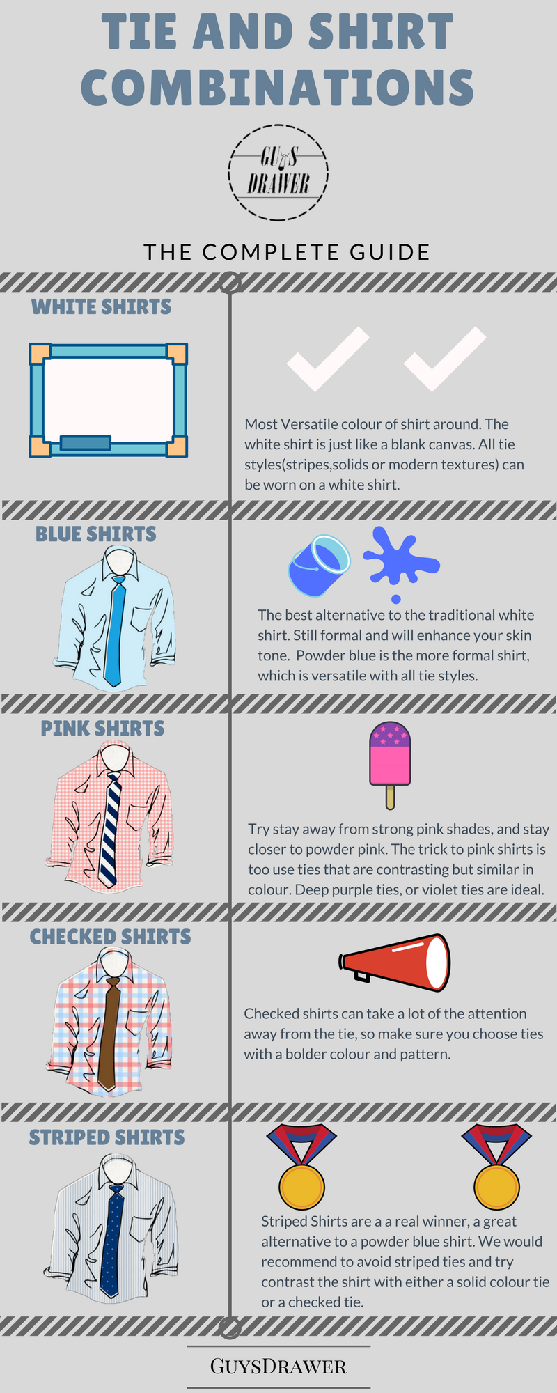 Tie and Shirt Combinations