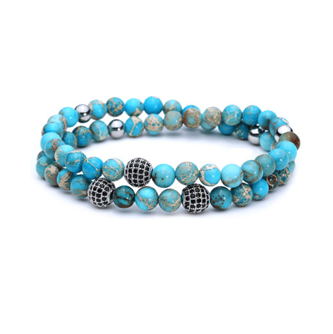 Jasper Stone Double Length Bracelets - More Styles Available - GuysDrawer.com - 1