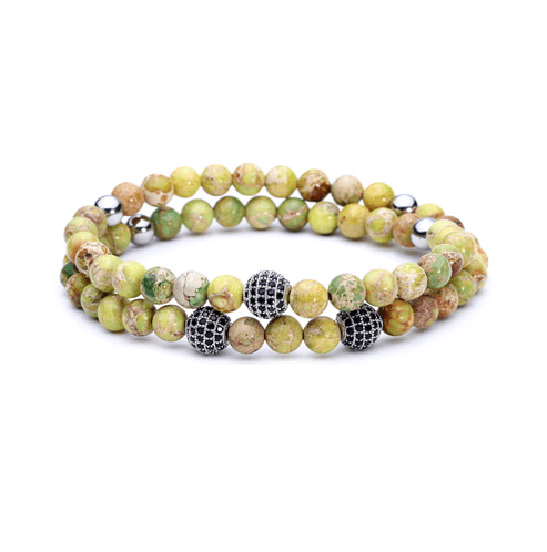 Jasper Stone Double Length Bracelets - More Styles Available - GuysDrawer.com - 6