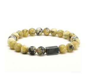 Stainless Block Ceramic Beads Bracelets