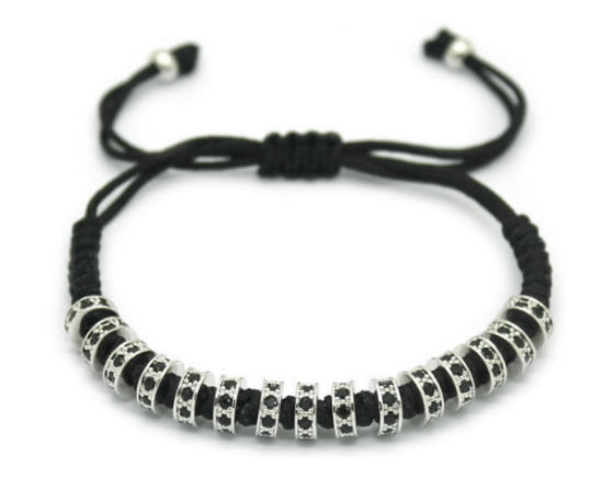 4 Pack: Zircon Stoppers/Macrame Disco Balls/Braided Macrame Lace Up/Black Panther Macrame Set - GuysDrawer.com - 1