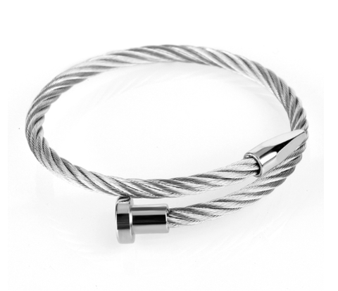 Titanium Twist Nail Bangle