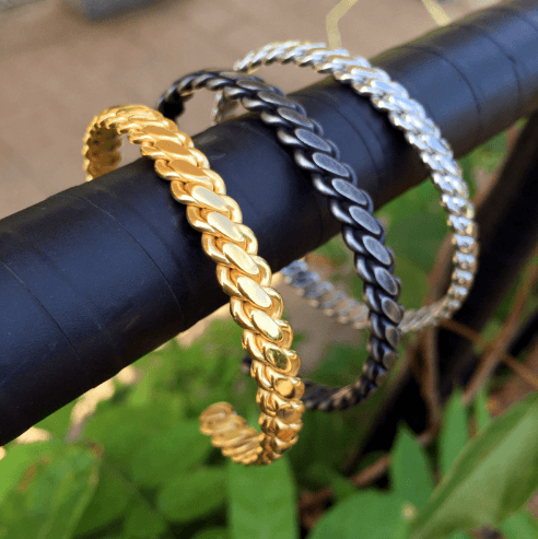 Twisted Chain Bangle - More Styles Available - GuysDrawer.com - 5