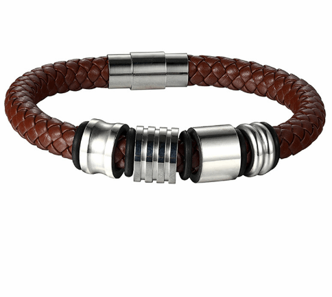 Braided Leather Band Bracelets - More Colours Available - GuysDrawer.com - 2