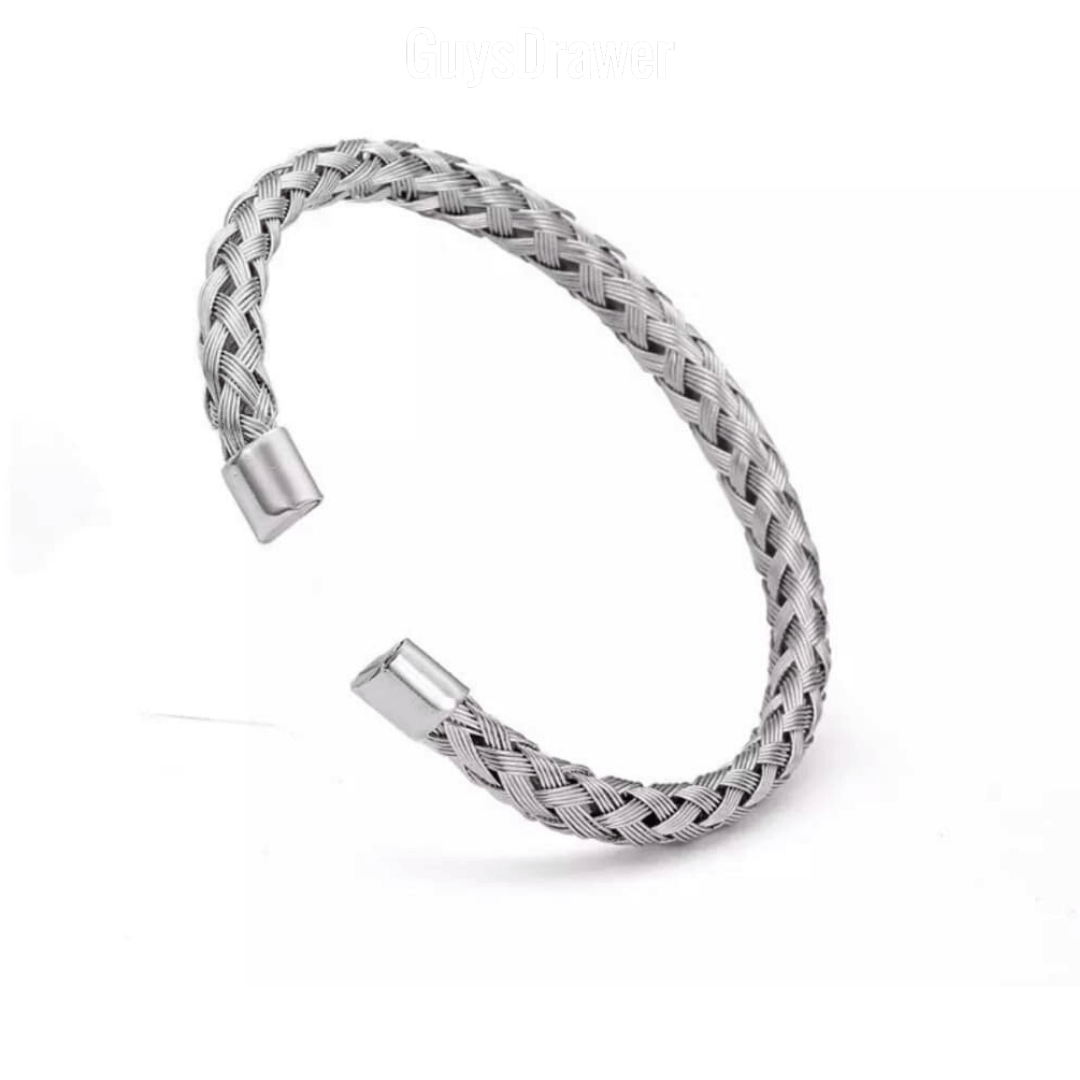 Titanium Twist Chain Bangle - More Styles Available