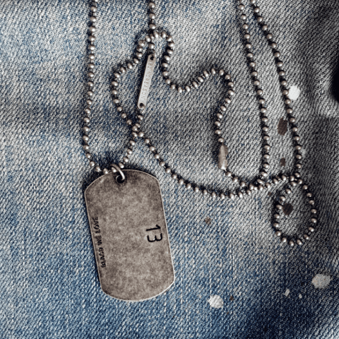 Dog Tags no.13 Necklace
