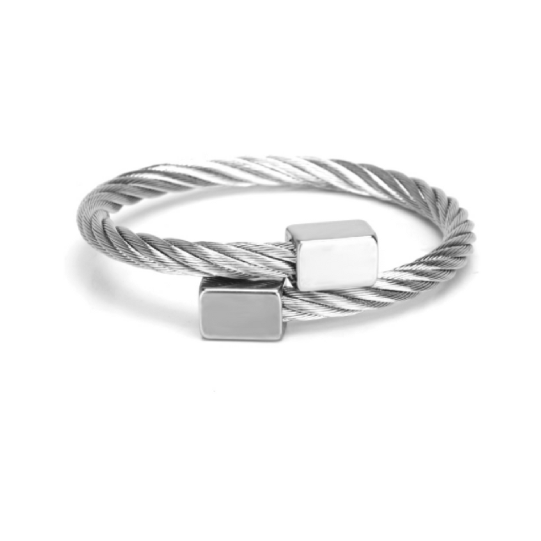 Titanium Twist Bangle