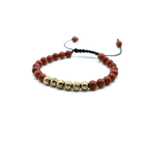 Micro String Natural Stone Bracelets - More Colours Available