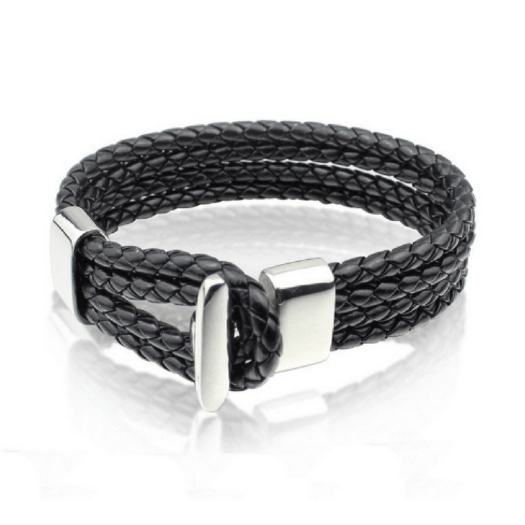Braided Leather Hook Bracelets - More Colours Available