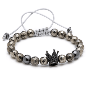 Haematite King Lace Up Bracelet
